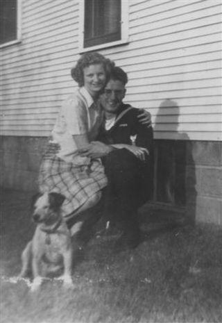 1944 Elsie, Jack Lehmer with Stubbs