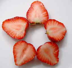 Five strawberries a