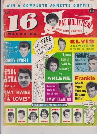 16 magazine August 1960